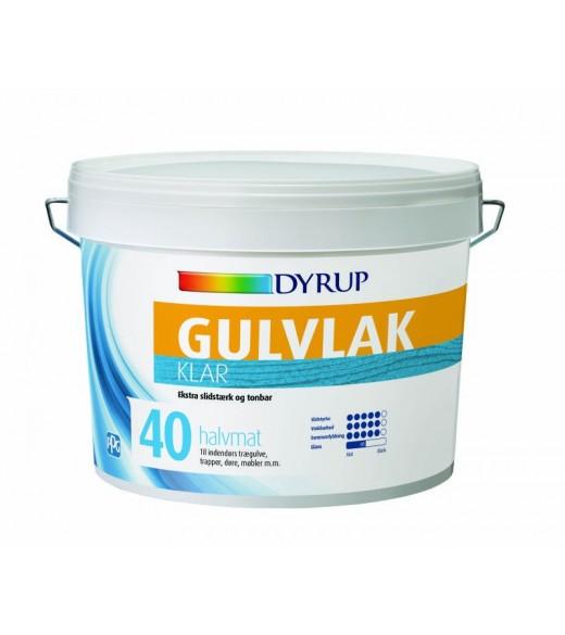 Dyrup Gulvlak - Storrelse - 0,75 L, Farve - Klar, Type - Halmat gl. 40