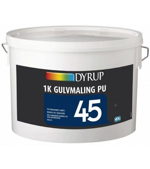 DYRUP GULVMALING 1K 45 PU - Størrelse - 4,5 L, Farve - ral 7035 thumbnail