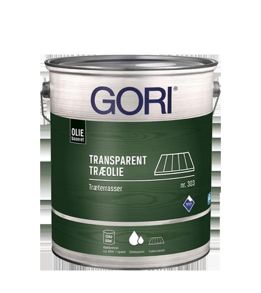 Image of   GORI 303 TRÆTERRASSE OLIE (tidl Gori Træterr.olie) - Størrelse - 5 L, Farve - farveløs