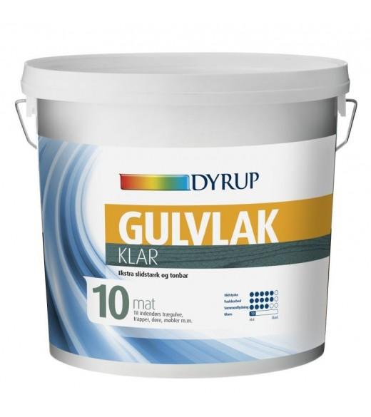 Image of   Dyrup Gulvlak - Størrelse - 0,75 L, Farve - Klar, Type - Halvmat