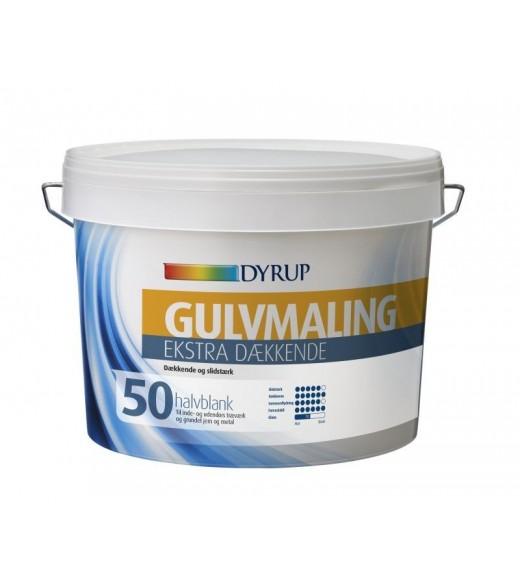 Image of   Dyrup Gulvmaling Ekstra Dækkende Vand 50/ Dekstrem Gulvmaling Vand - Størrelse - 0,75 L, Farve - hvid